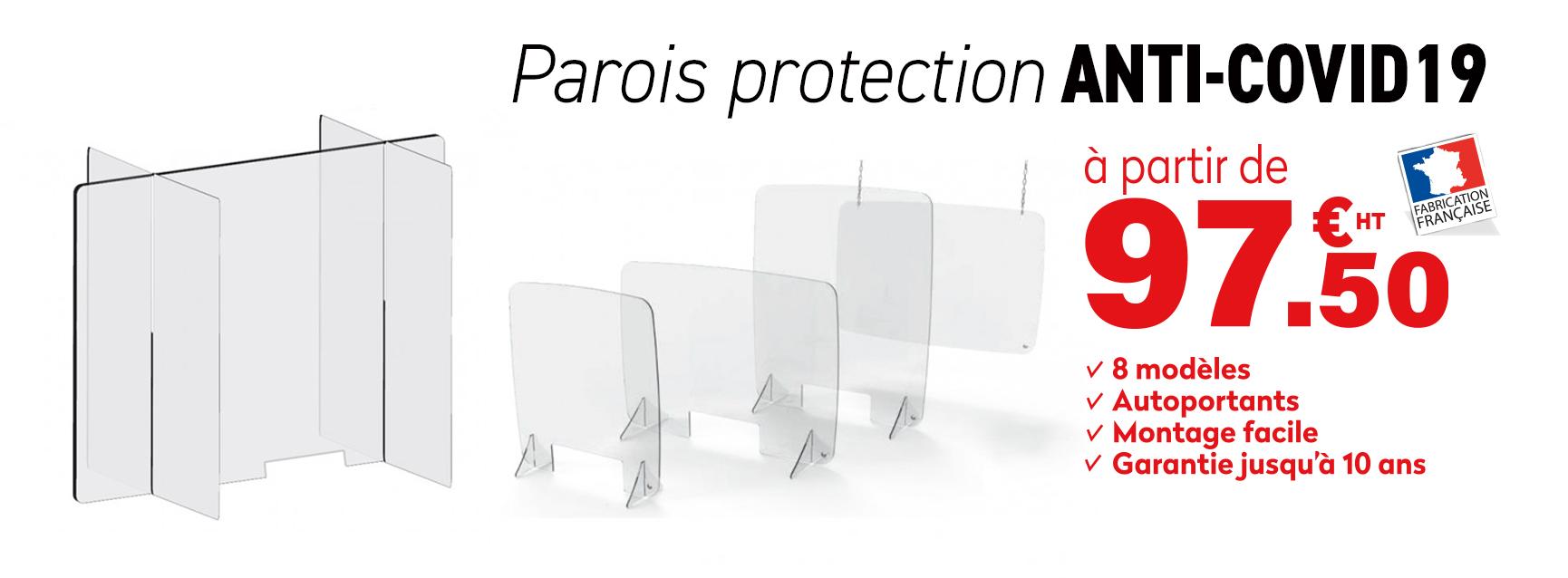 paroi sécurité santé covid19 protection