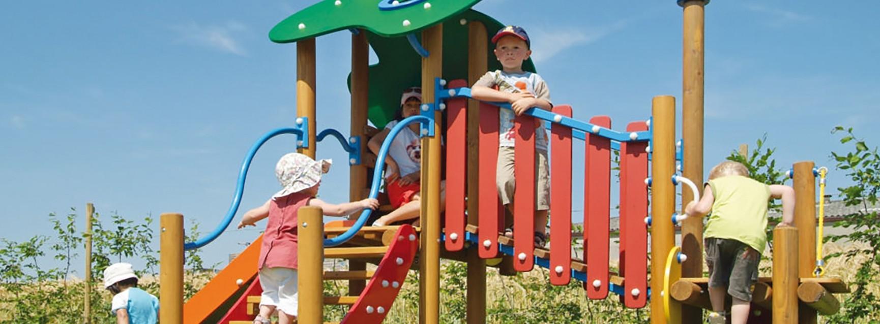 Aire de jeux enfants collectivités Sud Environnement