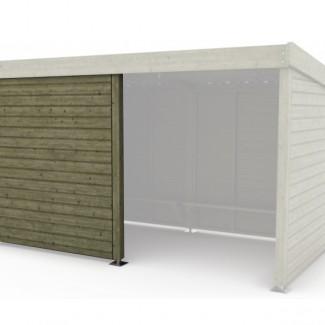 abri bus bois ard che l 185 x l 100 x h 205 cm sud. Black Bedroom Furniture Sets. Home Design Ideas
