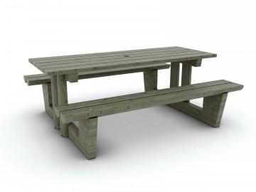 table bois extérieur collectivité