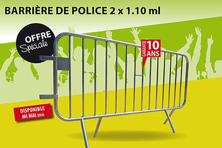 Barrière de police - Sud Environnement