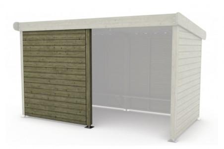 paroi de fa ade coupe vent l 76 x h 200cm sud environnement. Black Bedroom Furniture Sets. Home Design Ideas