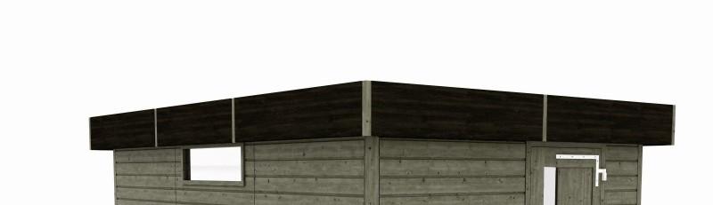 abri toit plat option bandeau fundermax abri r538 sud environnement. Black Bedroom Furniture Sets. Home Design Ideas
