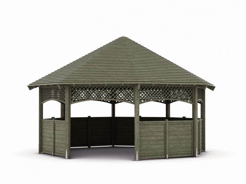 kiosque octogonal diam 8 m sud environnement. Black Bedroom Furniture Sets. Home Design Ideas