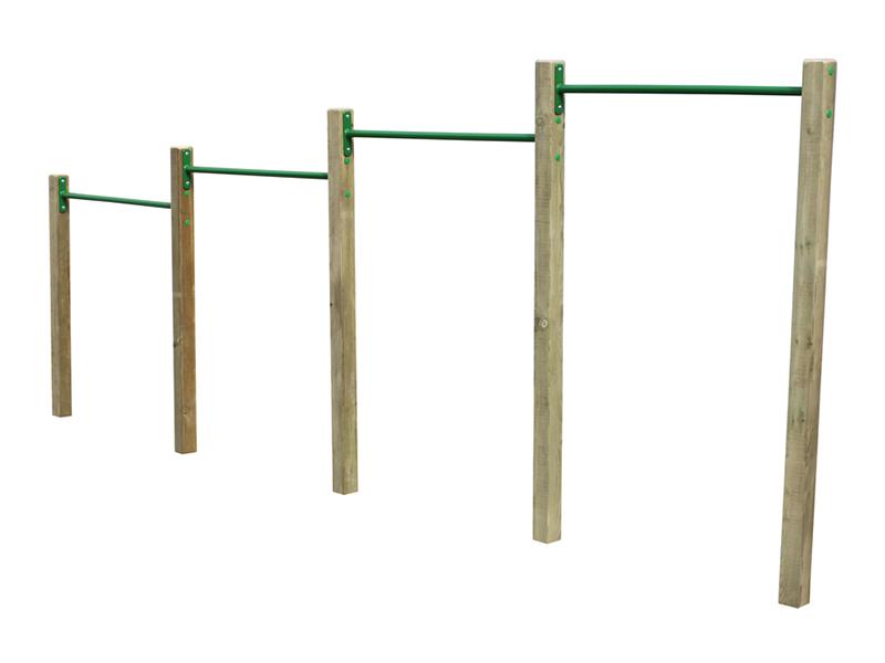Circuit gymnastique barres de flexion sud environnement - Construire barre traction exterieur ...