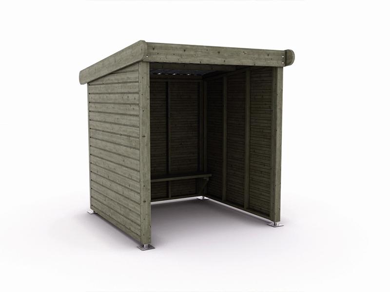 abri bus bois ard che l 200 x l 200 x h 220 cm sud. Black Bedroom Furniture Sets. Home Design Ideas